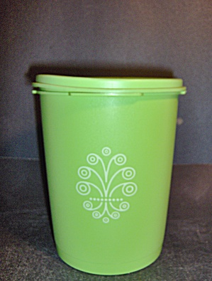 Vintage Tupperware Apple Green Canister