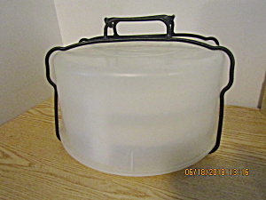 Vintage Tupperware Clear Pie Carrier With Trays