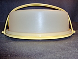 Vintage Tupperware Gold Small Cupcake/pie Carrier
