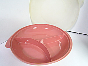 Tupperware Dusty Rose Micro Reheatables Divided Plate  (Image1)