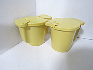 Vintage Tupperware Harvest Gold Fliplid Sugar & Creamer