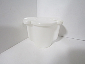Vintage Tupperware White Flip Lid Sugar Bowl