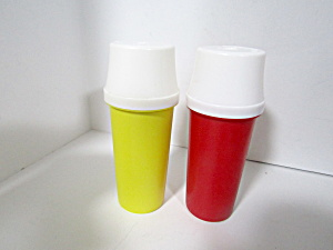 Tupperware Vintage Mini Ketchup & Mustard Dispensers