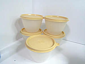 Vintage Tupperware Harvest Gold Storage Bowls