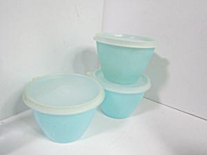 Vintage Tupperware  Pastel BlueStorage Bowls (Image1)