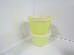 Vintage Tupperware Pastel Yellow Storage Bowls