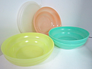 Vintage Tupperware Pastel Set Storage Bowls
