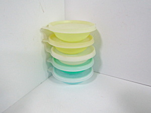 Tupperware Yellow/green/blue Pastel Storage Bowl Set