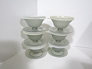 Vintage Tupperware Smoke Gray Dessert/pudding Cups