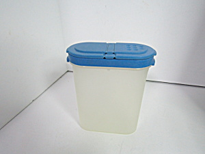Vintage Tupperware Modular Mate Blue Spice Container