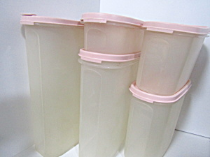 Vintage Tupperware Pink Modular Mate Space Saver Set
