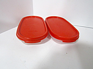 Vintage Tupperware Red Modular Mate Space Saver Set