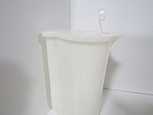 Vintage Tupperware Pour-n-store Covered White Pitcher