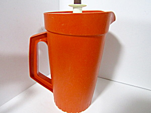 Tupperware Vintage Harvest Orange Two Quart Pitcher