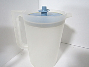 Tupperware Vintage Sheer Blue 2 Quart Pitcher
