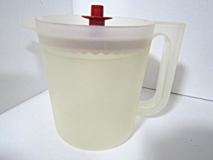 Tupperware Vintage Sheer/ Cranberry Red 1.5 Qt Pitcher