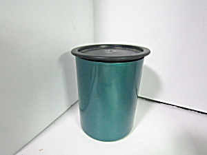 Vintage Tupperware Green Modular One Touch Canister #a