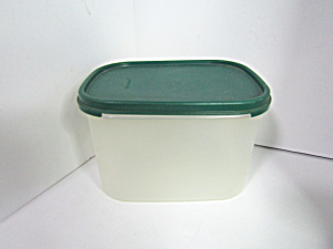 Vintage Tupperware Rectangle Green Modular Mate Saver