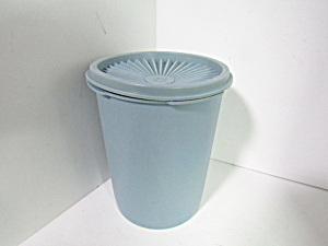 Vintage Tupperware Servalier Small Blue Canister
