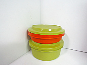 Vintage Tupperware Seal & Serve Two Size Set