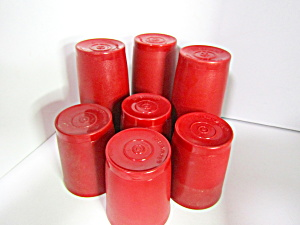 Vintage Tupperware Red  Tumbler Set (Image1)