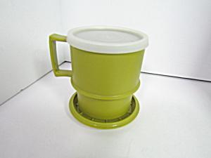 Vintage Tupperware Avocado Green Stacking Mug (Image1)