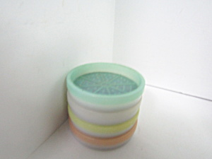 Vintage Tupperware Wagon Wheel Replacement Coasters