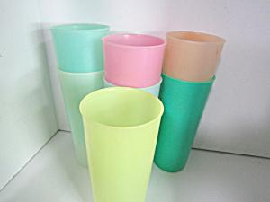 Vintage Tupperware Various Pastel  Colored Tumbler Set (Image1)