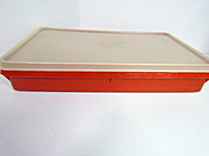Vintage Tupperware Red Bacon Keeper Container