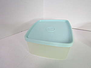 Vintage Tupperware Rectangle Container With Mint Lid