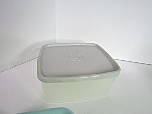 Vintage Tupperware Rectangle Container With Gray Lid