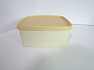 Vintage Tupperware Harvest Gold Rectangle Container