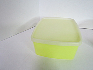 Vintage Tupperware Yellow Rectangle Container
