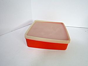 Vintage Tupperware Red Sandwich Rectangle Container