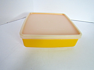 Vintage Tupperware Yellow Sandwich Rectangle Container