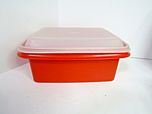 Vintage Tupperware Red Ice Cream Storage/container