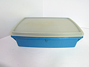 Vintage Tuppercraft Stow-n-go Blue Storage Cantainer