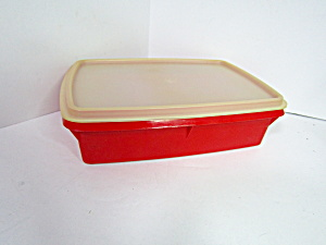 Vintage Tuppercraft Stow-n-go Red Storage Container