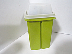 Tupperware Pick-a-deli Pickle Keeper Olive Green/clear