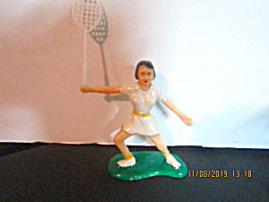 Vintage Cake Decorating Female Tennis Player