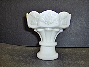 Milk Glass Westmoreland Candle Holders Grape Vine