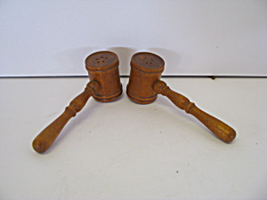 Vintage Wooden Mallet Salt & Pepper Shaker Set