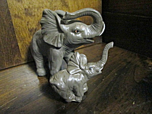 Elephant Figurines Mother And Baby Set