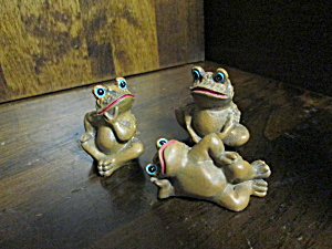 Vintage Brown Frog Figurines