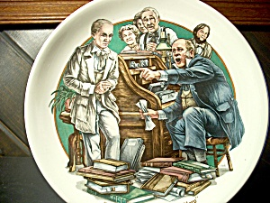 World Of Dickens Micawber Denouncing Uriah Heep Plate