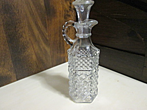 Vintage Anchor Hocking Wexford Oil/vinegar Cruet
