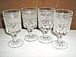 Vintage Anchor Hocking Wexford Set Of 4 Whine Glasses .