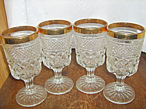 Anchor Hocking Wexford Set Of 4 Wine Goblets