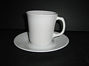 Corelle Winter Frost White Coffee Cup & Saucer