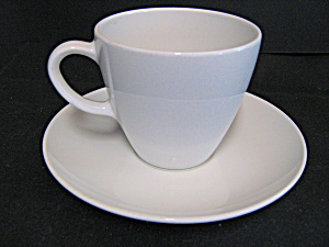 Corning Centura White Coupe Coffee Cup And Saucer